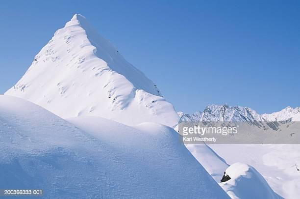 Mountain top, Chugach Mountains, Alaska, USA, elevated view