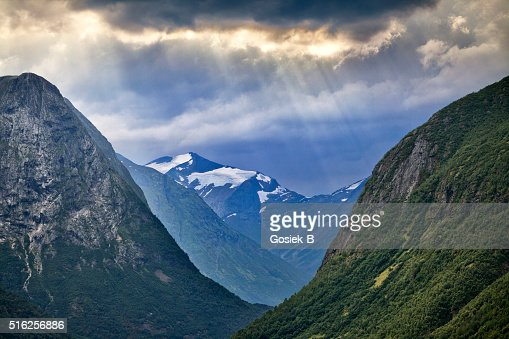 Mountain valley in Norway