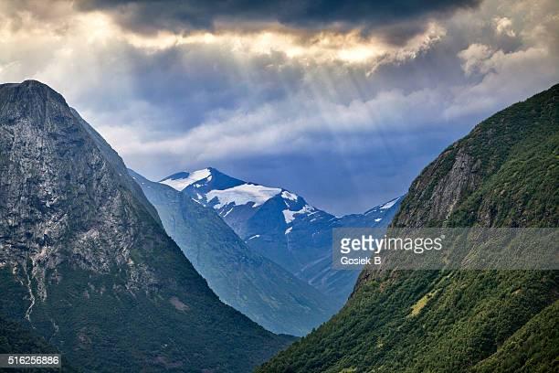 Mountain valley in Norwegen
