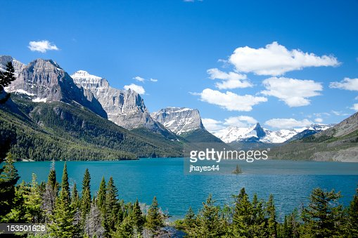 A mountain view in Glacier National Park, Montana