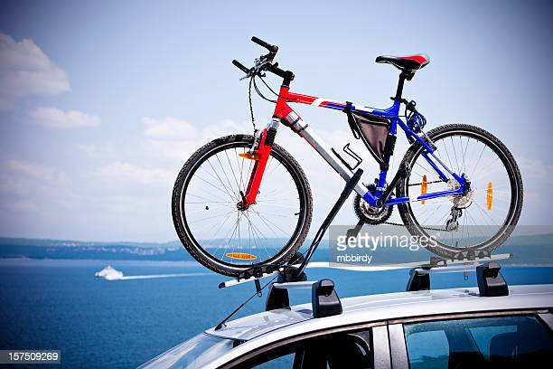 Mountainbike on bike roof carrier