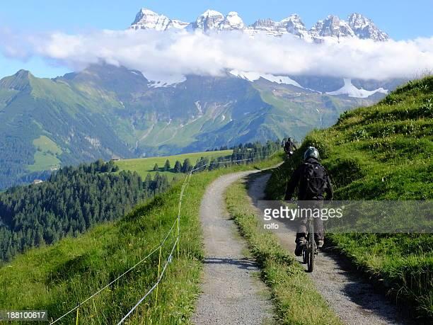 Mountainbiker in Portes Du Soleil