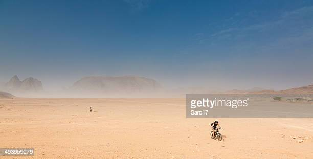 Mountainbiking at Jordan Desert Plains