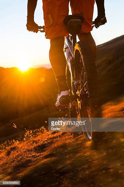 mountainbiking with full speed