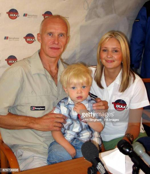 Mountaineer Alan Hinkes after he is reunited with grandson Jay and daughter Fiona after becoming the first Briton to scale all 14 of the world's...