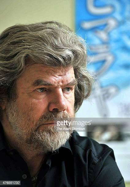 Mountaineer Reinhold Messner speaks during the Asahi Shimbun interview on July 6 2011 in Tokyo Japan