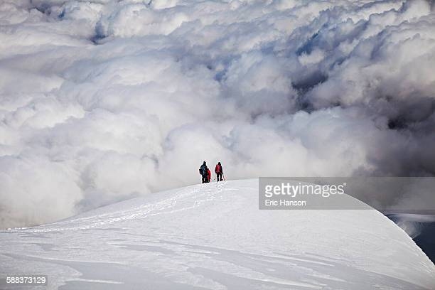 Mountaineers descend snowcovered Cotopaxi
