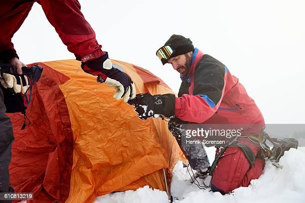 mountaineers in the swizz alpes