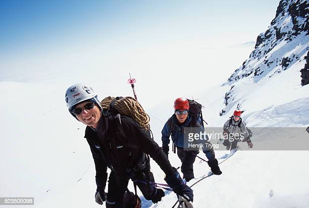 Mountaineers on Kebnekaise in Sweden