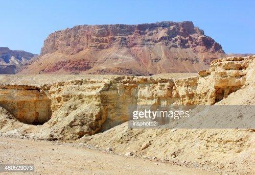 mountainous Judean Desert near the Dead Sea, Israel : Stock Photo