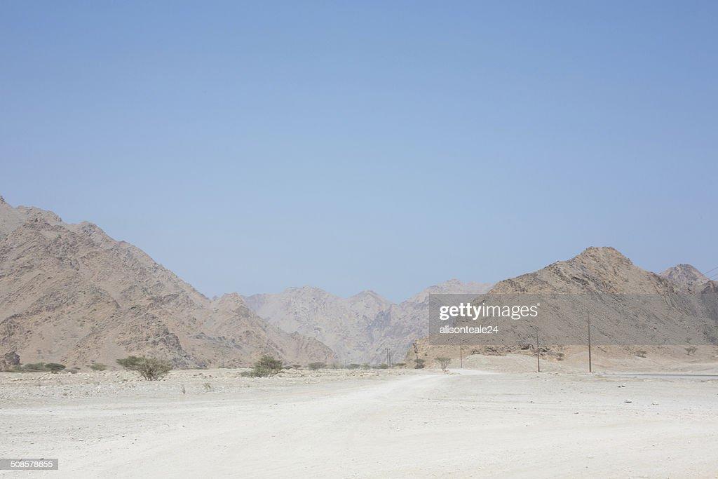 Mountainous landscape of the Musandam Peninsula, Oman : Stock Photo