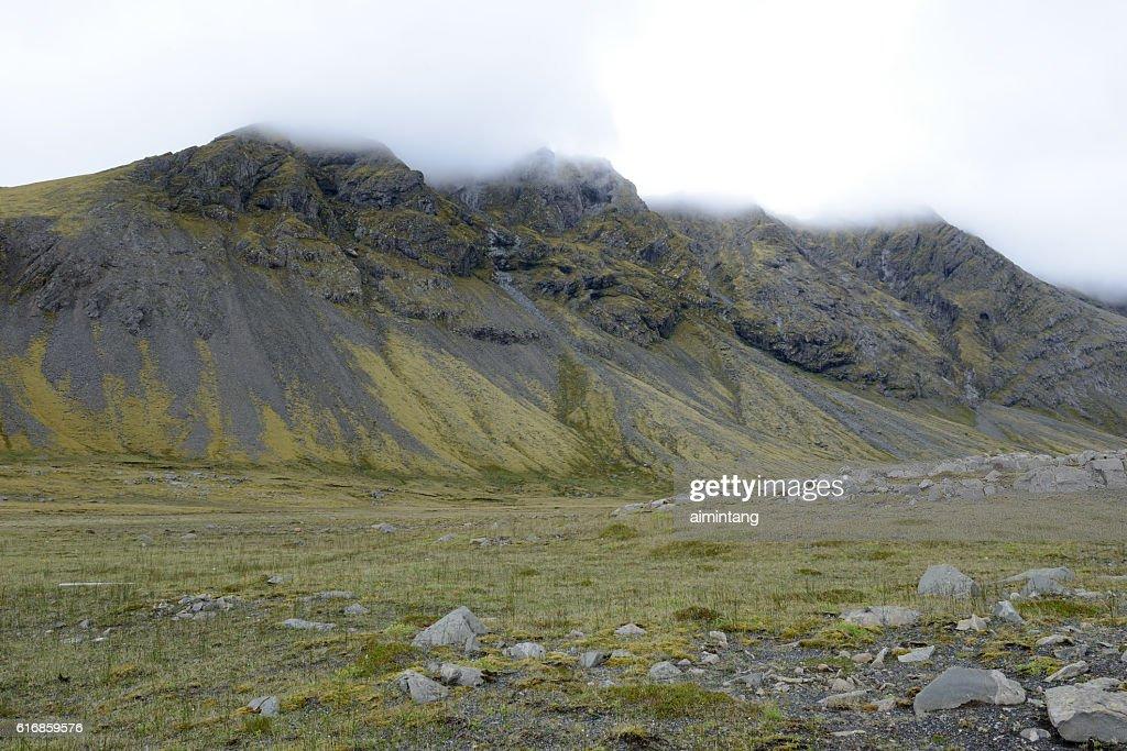 Mountainous scenery in South Iceland : Stock Photo