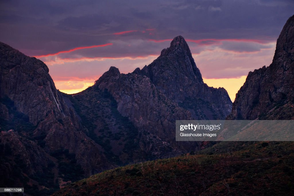 Mountains and Dramatic Storm Clouds, Texas, USA
