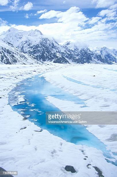 'Mountains and glaciers in St. Elias National Park and Preserve, Wrangell Mountains, Wrangell, Alaska '