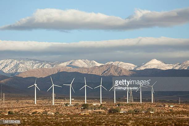 Mountains and huge wind farm in Palm Springs California