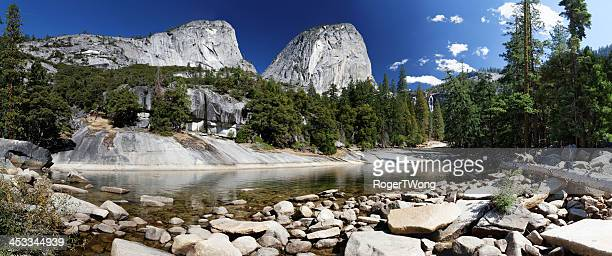 Mountains and stream in Yosemite