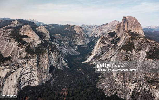 Mountains and valley from Glacier Point, Yosemite National Park, USA