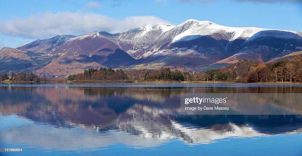 Mountains at Derwent Water : Stock Photo