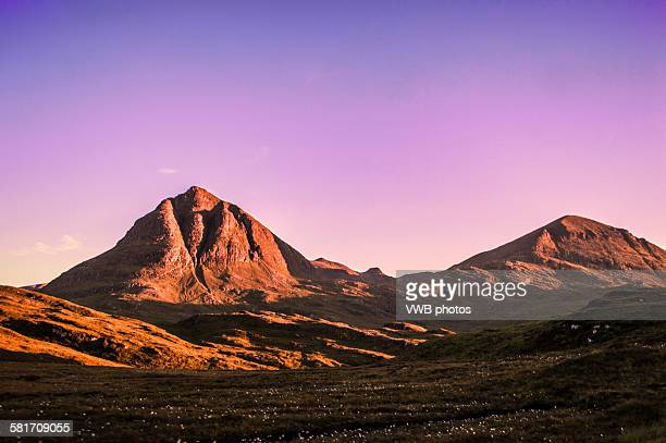 Mountains at Sunset, Sutherland