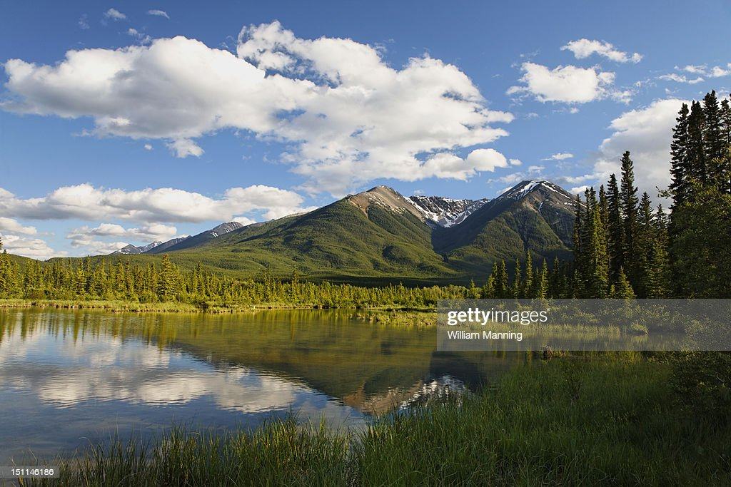 Mountains at Vermillion Lakes : Stock Photo