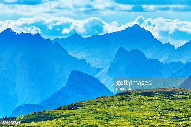 Mountains in the distance, Dolomites, Italy
