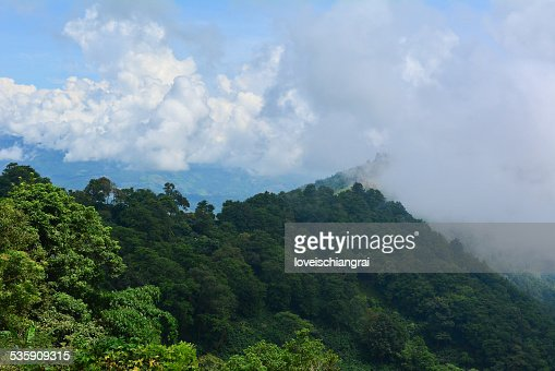 Montanhas do Norte da Tailândia : Foto de stock