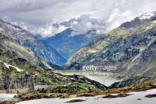 Mountains of Furka Pass