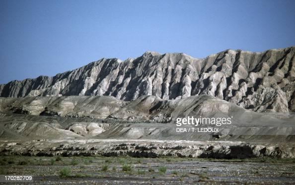 Mountains of the Tian Shan near Turpan China