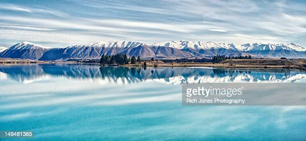 Mountains reflected in New Zealand Lake