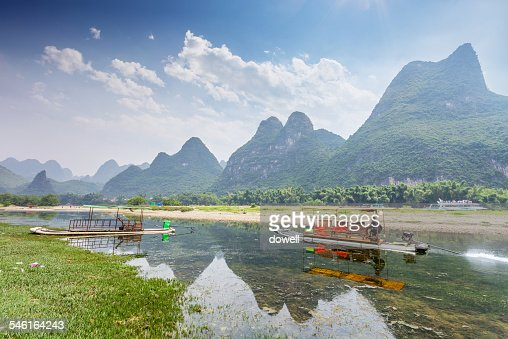 Mountains, river and sky in Guilin