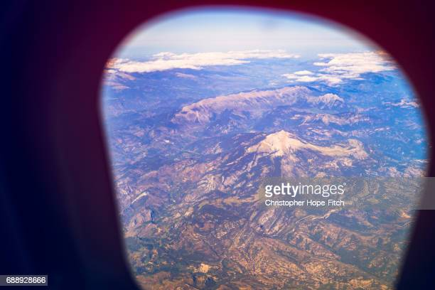 Mountains seen from aeroplane