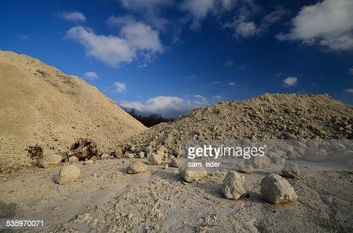 mountains with limestone : Stock Photo