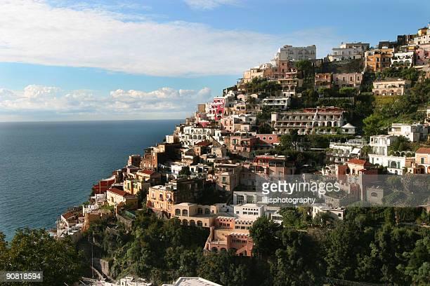 Bergdorf Positano, Amalfi Küste von Italien, Mittelmeer