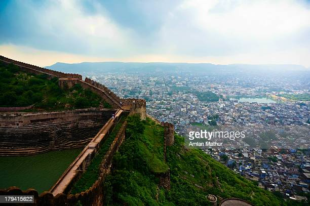 Mountaintop fort overlooking the city of Jaipur