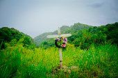 Mountaintop grave marker, Saint Lucia