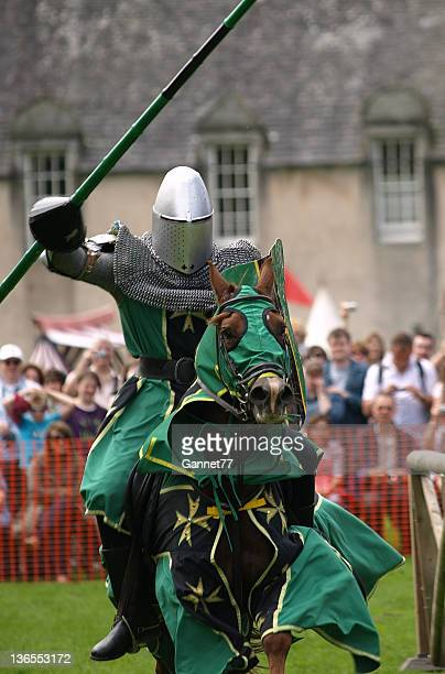 Mounted Knight charging at a joust