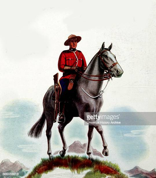 Mountie or mounted canadian police officer
