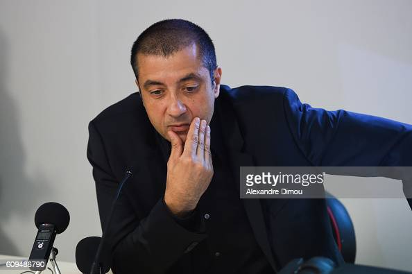 Mourad Boudjellal President of Toulon during a press conference of the president of Rc Toulon for the presidence at the Rubgby League on September 21...