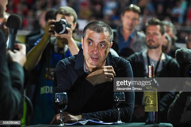 Mourad Boudjellal President of Toulon during the rugby Top 14 match between Toulon and Union Begles Bordeaux at Stade Mayol on June 5 2016 in Toulon...