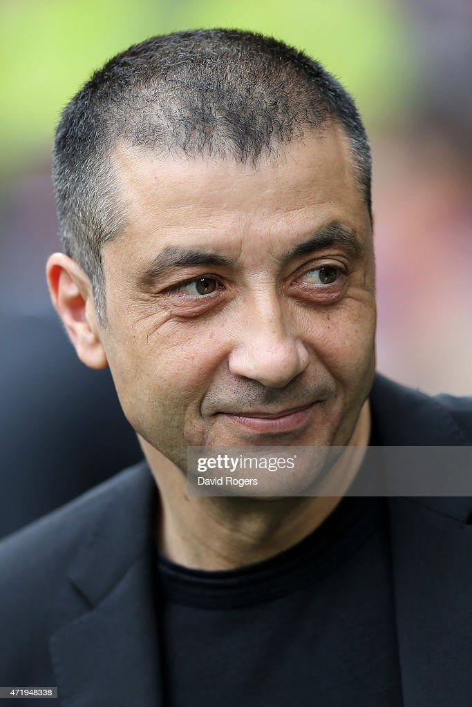 Mourad Boudjellal the club owner of Toulon looks on during the European Rugby Champions Cup Final match between ASM Clermont Auvergne and RC Toulon at Twickenham Stadium on May 2, 2015 in London, England.