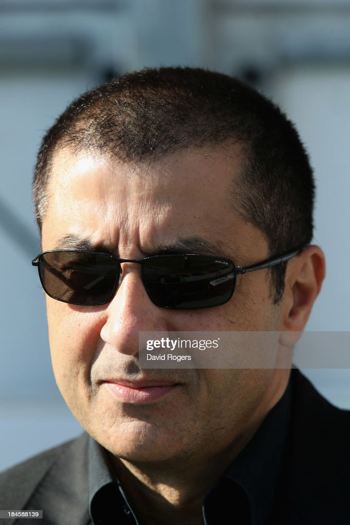 Mourad Boudjellal, the owner of Toulon Rugby looks on during the Heineken Cup Pool 2 match between Toulon and Glasgow Warriors at the Felix Mayol Stadium on October 13, 2013 in Toulon, France.