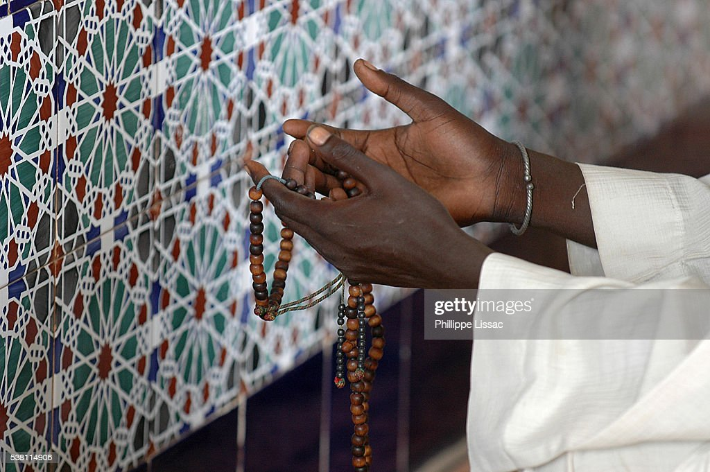 Mouride Muslim Praying Before Sheikh Ahmadou Bamba's Tomb