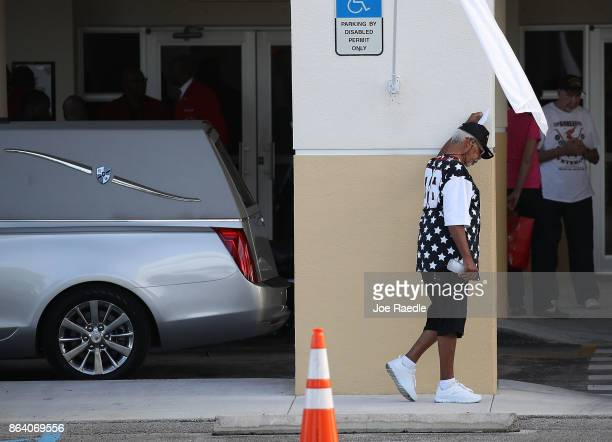 A mourner attends the viewing for US Army Sgt La David Johnson at the Christ the Rock Community Church on October 20 2017 in Cooper City Florida Sgt...