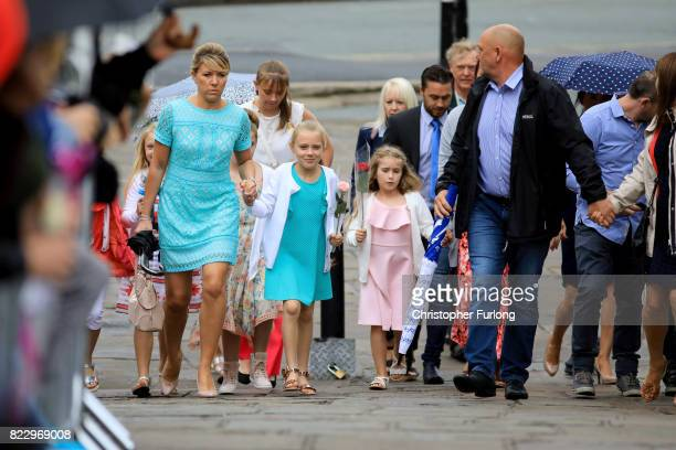 Mourners arrive at the funeral of Manchester Attack victim Saffie Roussos at Manchester Cathedral on July 26 2017 in Manchester England Saffie Rousso...