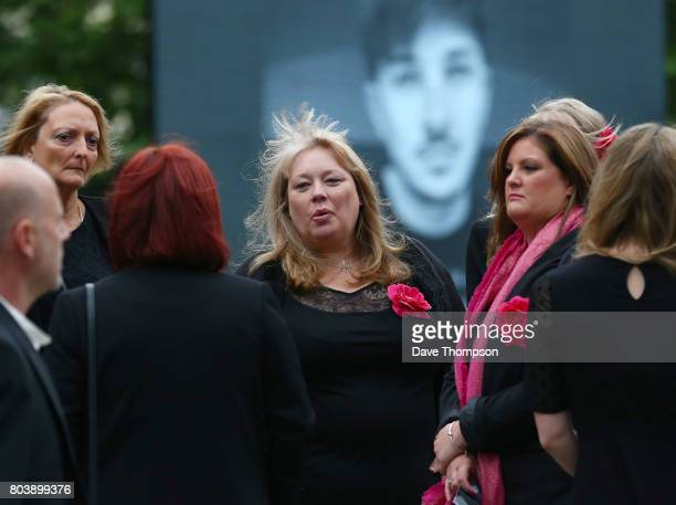 Mourners arrive for the funeral of Martyn Hett at Stockport Town Hall on June 30 2017 in Stockport England 29 year old Martyn Hett was one of 22...