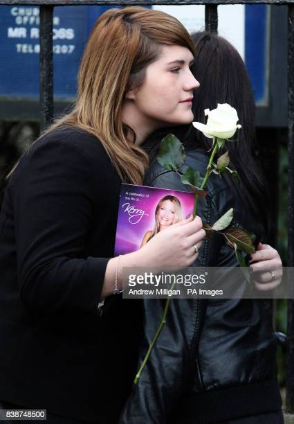 Mourners at the funeral of former X Factor finalist Kerry McGregor at the Kirk of Calder in Mid Calder West LothianPicture date Tuesday January 10...