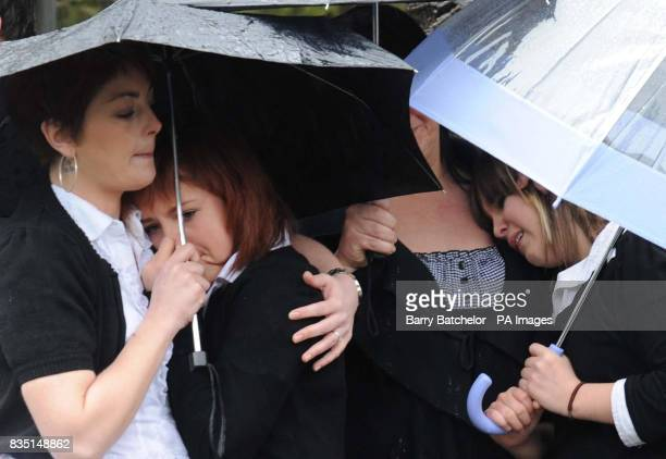 Mourners at the funeral service of Nikkita Walters at St David's Church Tonyrefail