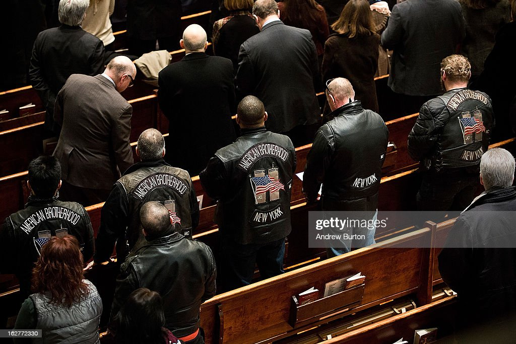 Mourners attend mass at St. Patrick's Roman Catholic Church, prior to the 20th Anniversary Ceremony for the 1993 World Trade Center bombing at Ground Zero on February 26, 2013 in New York City. The attack, which utilized a car bomb and hit the north tower, killed six people.