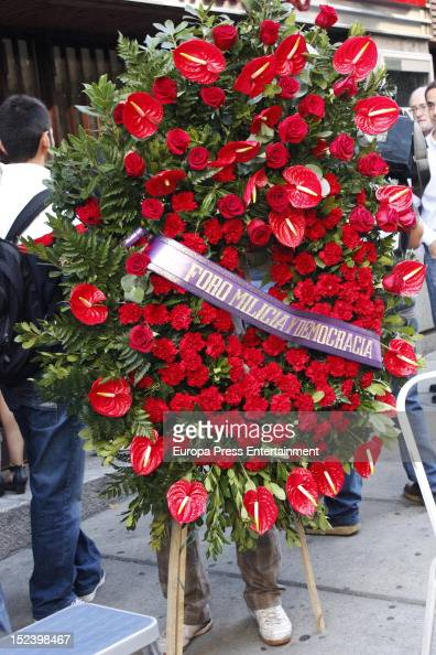 Mourners attend the funeral for former Communist Party leader Santiago Carrillo September 19 2012 in Madrid Spain Carrillo who died at the age of 97...