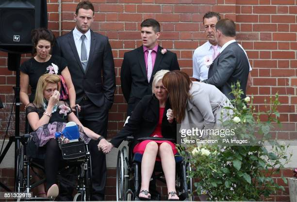 Mourners attend the funeral of Beth Jones who died in a crash on the M62 as she headed to a hen party at St Joseph's church in South Elmsall